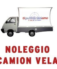 CAMION VELA NOLEGGIO PUBBLICITA' CAMION VELA MILANO